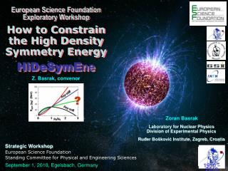 European Science Foundation Exploratory Workshop How to Constrain the High Density Symmetry Energy