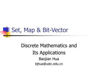 Set, Map & Bit-Vector