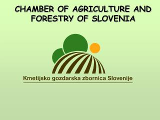 CHAMBER OF AGRICULTURE AND FORESTRY OF  S LOVENIA