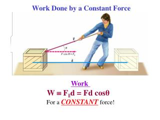 Work Done by a Constant Force