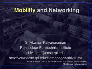 Mobility  and Networking