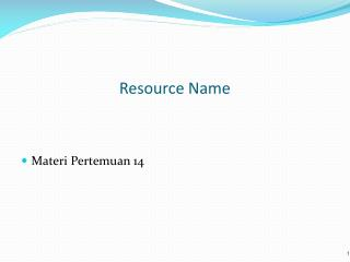 Resource Name