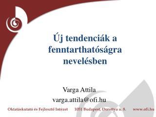 Varga Attila varga.attila@ofi.hu