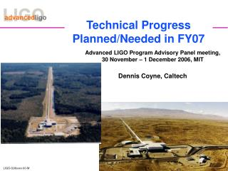 Technical Progress Planned/Needed in FY07