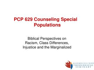 PCP 629 Counseling Special Populations