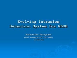 Evolving Intrusion Detection System for MLDB