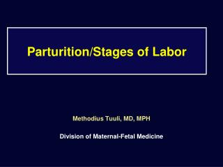 Parturition/Stages of Labor