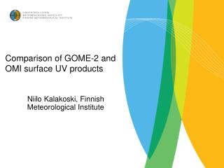 Comparison of GOME-2 and OMI surface UV products