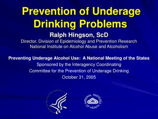 Prevention of Underage Drinking Problems