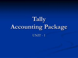 Tally Accounting Package