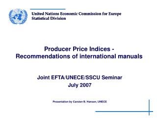 Producer Price Indices - Recommendations of international manuals