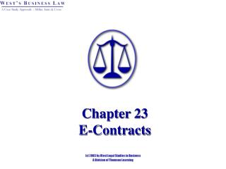 Chapter 23   E-Contracts