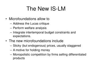 The New IS-LM