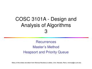 COSC 3101A - Design and Analysis of Algorithms 3