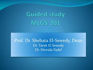 Guided study MLGS-201