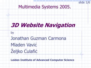 3D Website Navigation