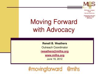Moving Forward  with Advocacy