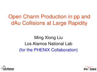Open Charm Production in pp and dAu Collisions at Large Rapidity