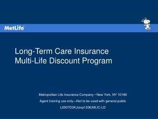Long-Term Care Insurance Multi-Life Discount Program