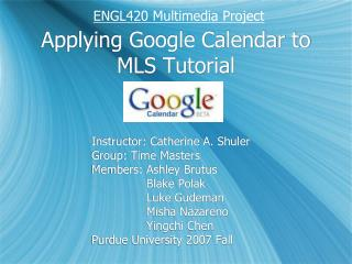 Applying Google Calendar to MLS Tutorial