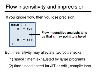 Flow insensitivity and imprecision