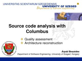 Source code analysis with Columbus