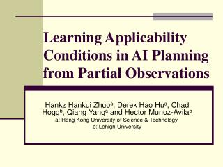 Learning Applicability Conditions in AI Planning from Partial Observations