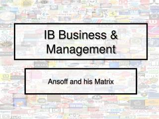 IB Business & Management