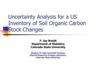 Uncertainty Analysis for a US Inventory of Soil Organic Carbon Stock Changes