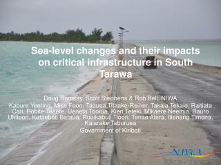 Sea-level changes and their impacts on critical infrastructure in South Tarawa