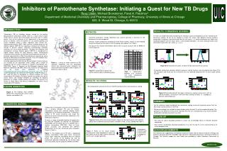 Inhibitors of Pantothenate Synthetase: Initiating a Quest for New TB Drugs