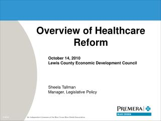 Overview of Healthcare Reform