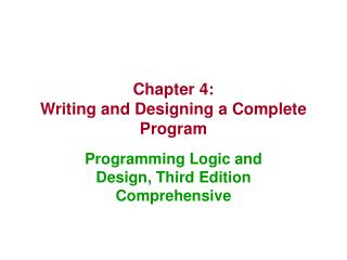 writing a complete program process logical Sounds logical, yes it is very easy to understand if you will imagine a recipe those are classic and simple process analysis essay examples start with your own outline and list all the steps of the process you are describing there is no particular order or rules on how to write a process analysis.