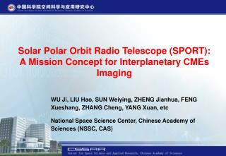 Solar Polar Orbit Radio Telescope (SPORT):  A Mission Concept for Interplanetary CMEs Imaging