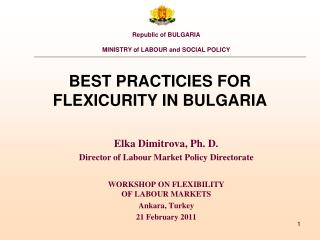 BEST PRACTICIES FOR FLEXICURITY IN BULGARIA