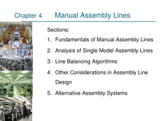 Manual Assembly Lines