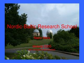 Nordic-Baltic Research School