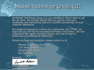 Mitchell Technology Group, LLC