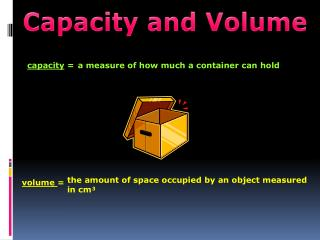 Capacity and Volume