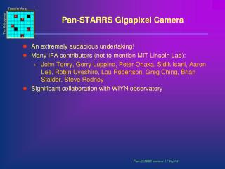 Pan-STARRS Gigapixel Camera