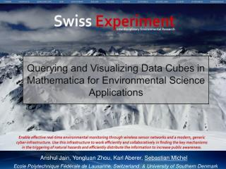 Querying and Visualizing Data Cubes in  Mathematica  for Environmental Science Applications