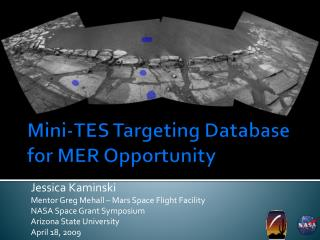 Mini-TES Targeting Database for MER Opportunity