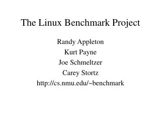 The Linux Benchmark Project