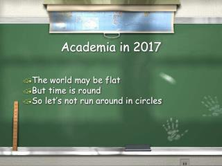 Academia in 2017