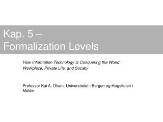 Kap. 5 – Formalization Levels