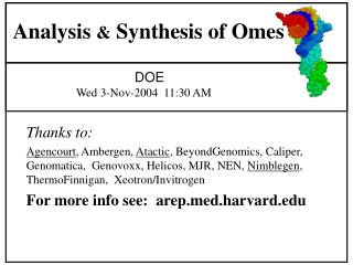 Analysis  &  Synthesis of Omes