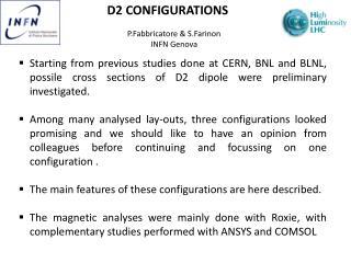 D2 CONFIGURATIONS