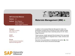 Materials Management (MM)