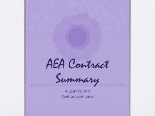 AEA Contract Summary