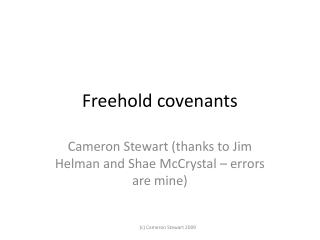 Freehold covenants